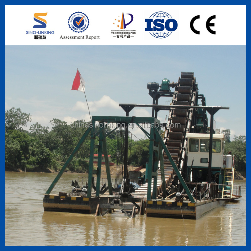 SINOLINKING Click! High Efficiency Used Gold Dredge for Sale with Large Capacity