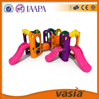 Indoor plastic pVC more kids mini slide for kindergarden