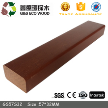 For wpc decking water resistance Anti-slip mixed color wood plastic composite wpc joist