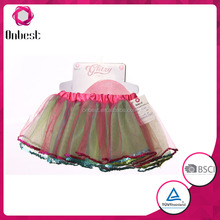 New arrival sequins edging girls tutu dress slim fit colorful baby cosplay halloween costumes