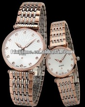 high quality fashion couple watch brass watch with competitive price