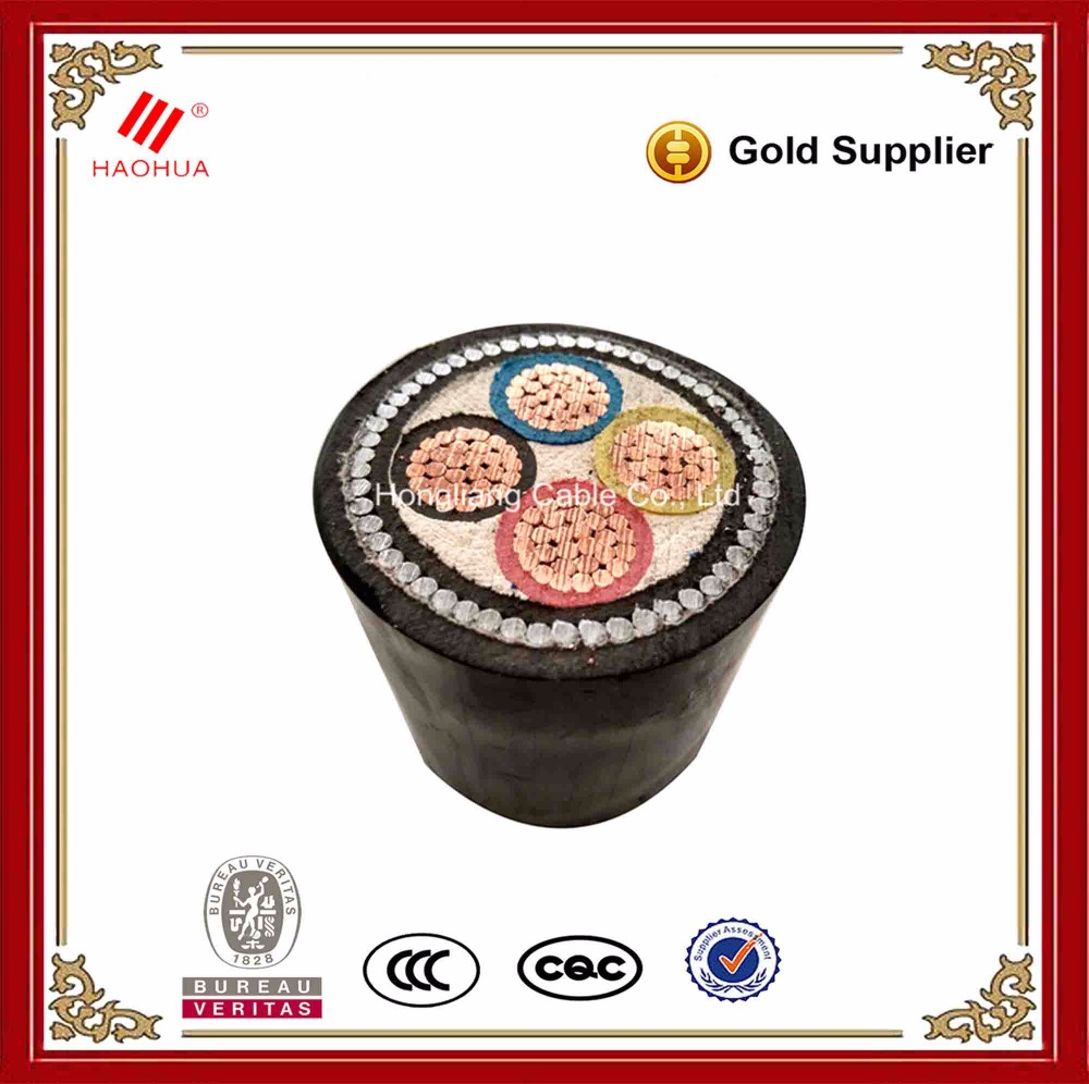 No.0140- 0.6/1kv CU/XLPE/SWA/PVC 4 core armoured power cable electric wire and cable 120mm