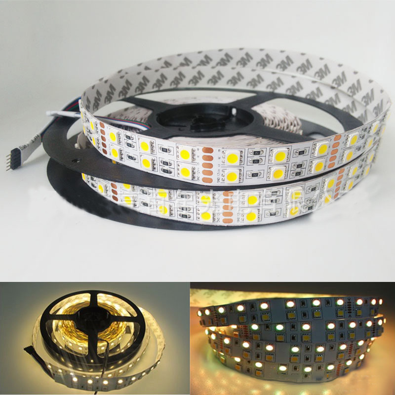 Flexible 2835 3528 120 leds magic <strong>rgb</strong> 60led/mt smd 5050 double pcb IP20 strip led light with CE Rhos