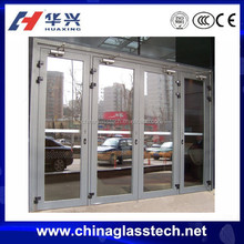 CE certificate heat resistance aluminum frame 2 way swing door