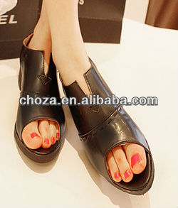 C50434S MOST COMFORTABLE EUROPEAN RETRO STYLE PEEP TOE WOMAN'S SHOES