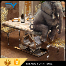 Beautiful soft furniture metal table legs elephant dining table CT006
