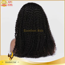 factory wholesale collected from young girl 100% virgin Chinese hair kinky curly lace front wigs