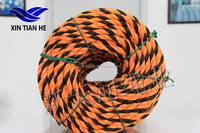 High Strength 3 Strands 16mm Polyethylene Tiger Rope