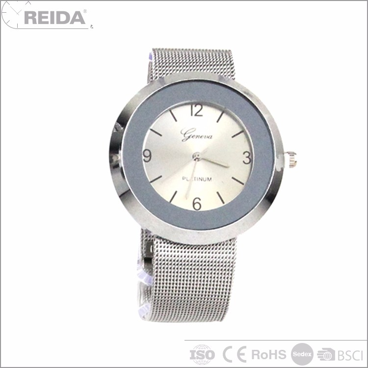 China analog lady man alloy sterling 925 silver watch