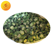 Bulk supply wholesale price frozen vegetable frozen okra cut