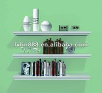 Decorative wood shelf wall shelf with one shape for livingroom decoration