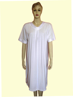ladies cotton short sleeve nightshirt sleepwear