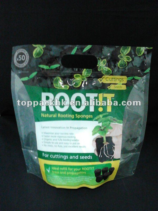 50 Refill Natural rooting sponges stand up packaging bag with zipper for cuttings and seeds
