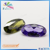 FACETS GEMS Factory Sale Synthetic Zirkonia Oval Cut Ceylon Gems Stone