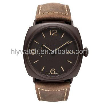 japan movement watch stainless steel back,leather watch strap,provide wooden watch