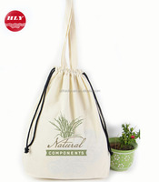 Customized Various Natural Recyclable 5 OZ Cotton Canvas Gym Sack Drawstring Bag