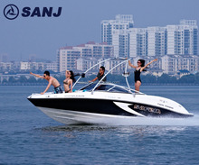 China cheap jet boat SJF21A High Speed 8 persons Mini Sport Yacht gasoline type motor boat factory price