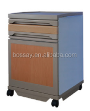 Movable CHEAPEST Steel Hospital STANDARD night stand/ bed side cabinet