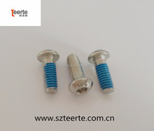 ISO7380 304 round head socket cap machine screw with blue Teflon