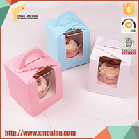 Lovely design OEM paper cupcake box packaging for gift