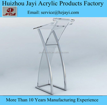 Adjustable Metal Lectern With Acrylic , Contemporary Acrylic Lectern