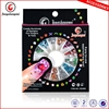 Mixed Pearl/Rhinestone/Fimo crystal stone nail art 3D Acrylic Decoration Round Wheel