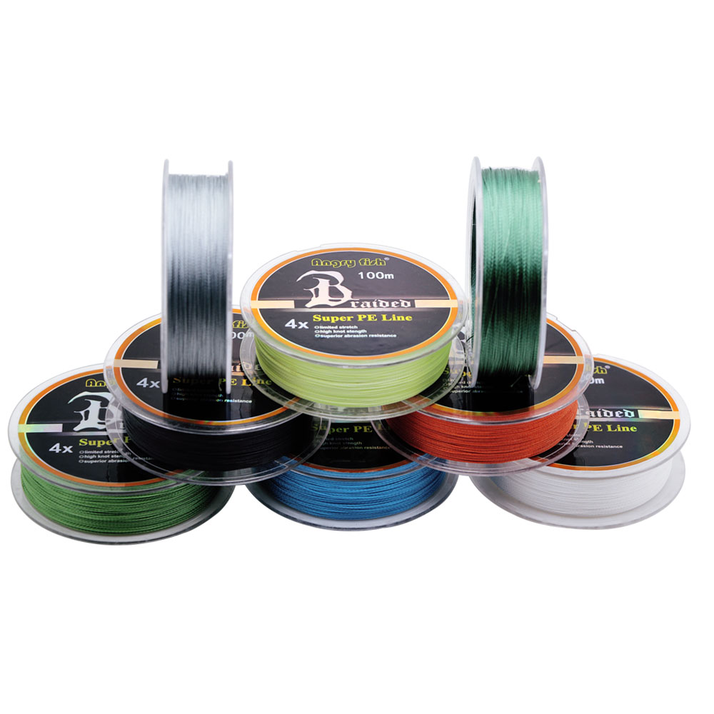 Manufacturer Fishing Line 4x Strands Braided <strong>PE</strong> Multi-filament Line 100m