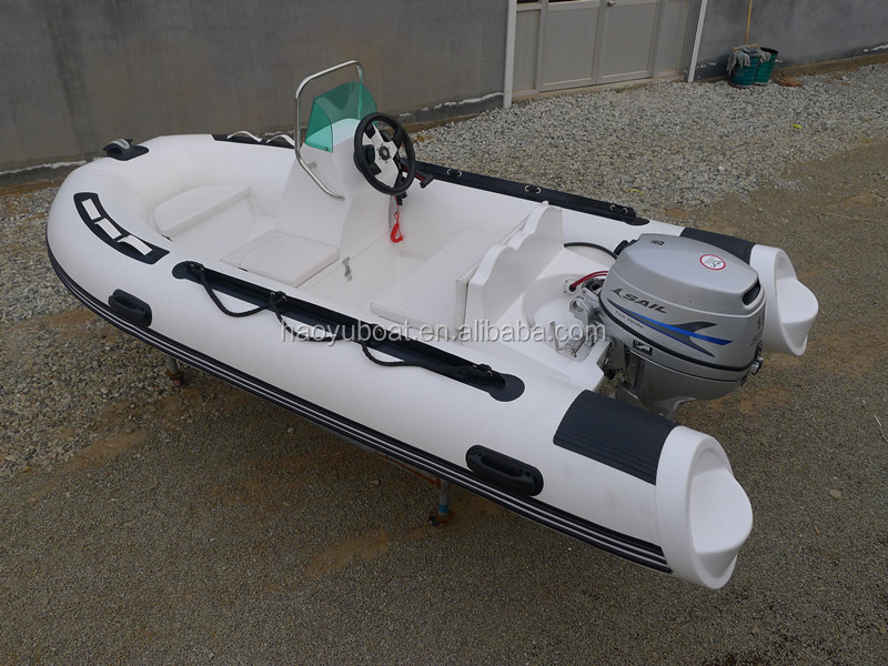 2015 new model 3.5m rigid inflatable RIB boat 360C rubber boat HYPALON with CE fishing boat