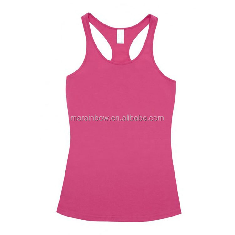 blank Ladies T-Back Singlet 100% Cotton plain racerback singlet custom for ladies cheapest price wholesale
