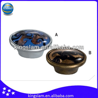 Colored glaze zinc door knobs for furniture KH8250-1