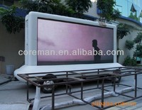 coreman outdoor advertising billboard outdoor full color dip p10 led sign mobile led screen trailer /mobile led display trailer
