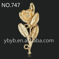 golden mesh leaf DIY jewelry accessories hair accessories DIY handmade-747