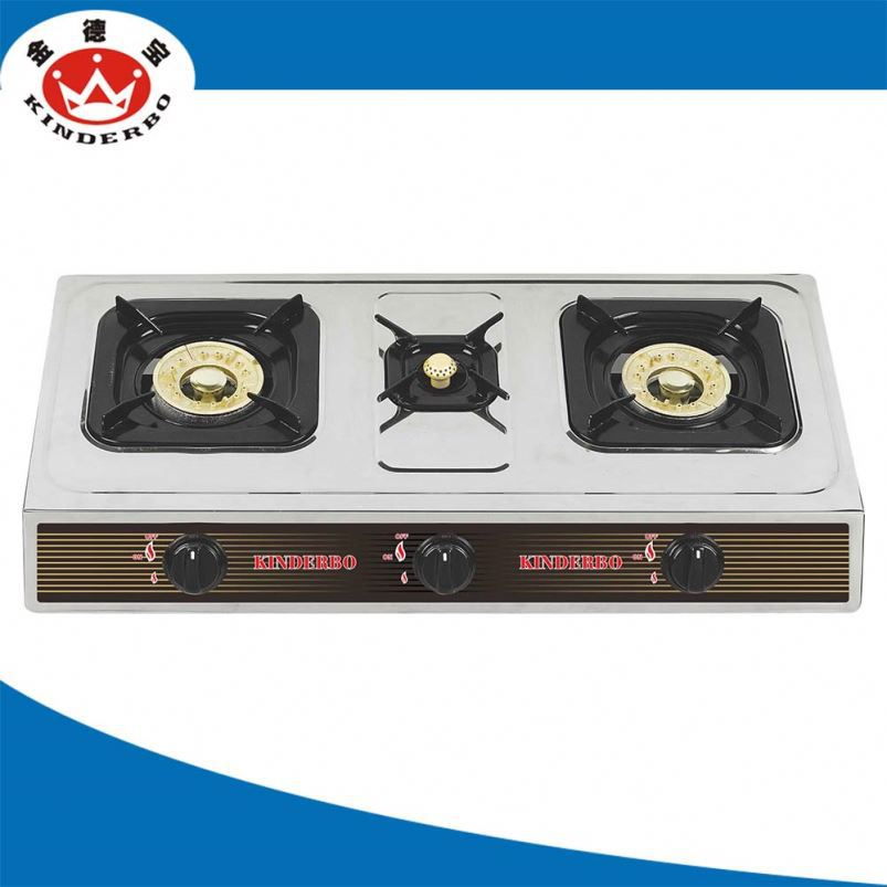 3 burner Camping table top gas cooker sb-ss04