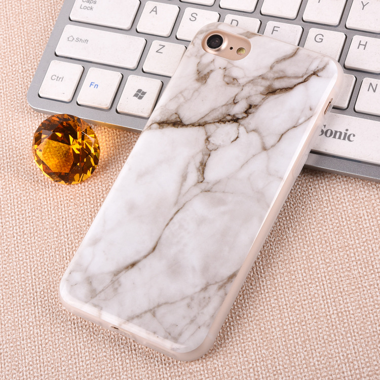 Nature Marble Painting Shockproof Ultra thin TPU Phone Case For iPhone 7 plus Rock Phone Case