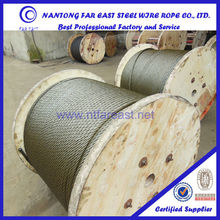 Hemp core 18*19S elevator wire rope cables/ steel cable/steel wire rope