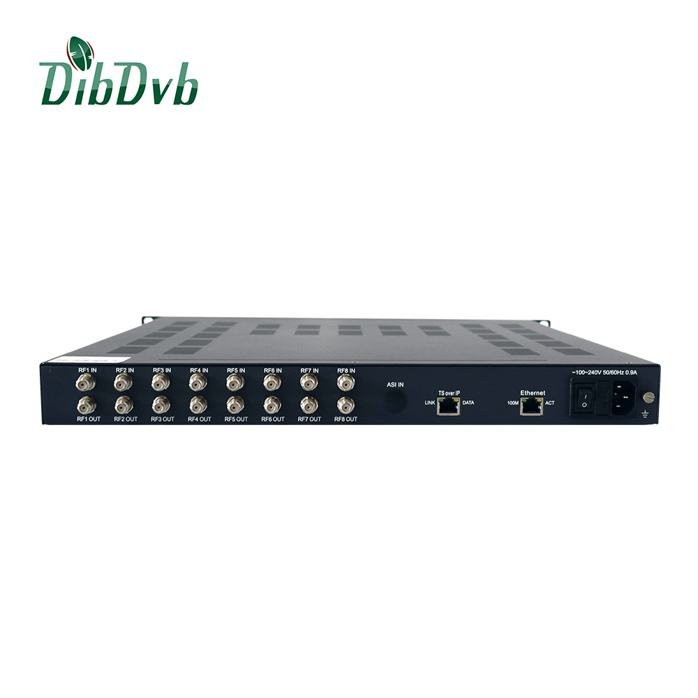 dvb to ip gateway 8 tuners input, spts/mpts channels output for iptv and dvb system