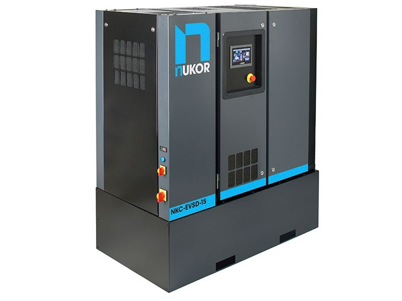 Nukor eVSD 15KW / 20HP Rotary Screw Air Compressor