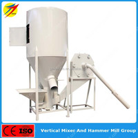 High efficiency vertical type feed mixer machine for corn grain