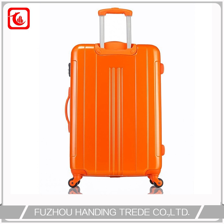 plastic storage shiny orange suitcase , unique korean style luggage