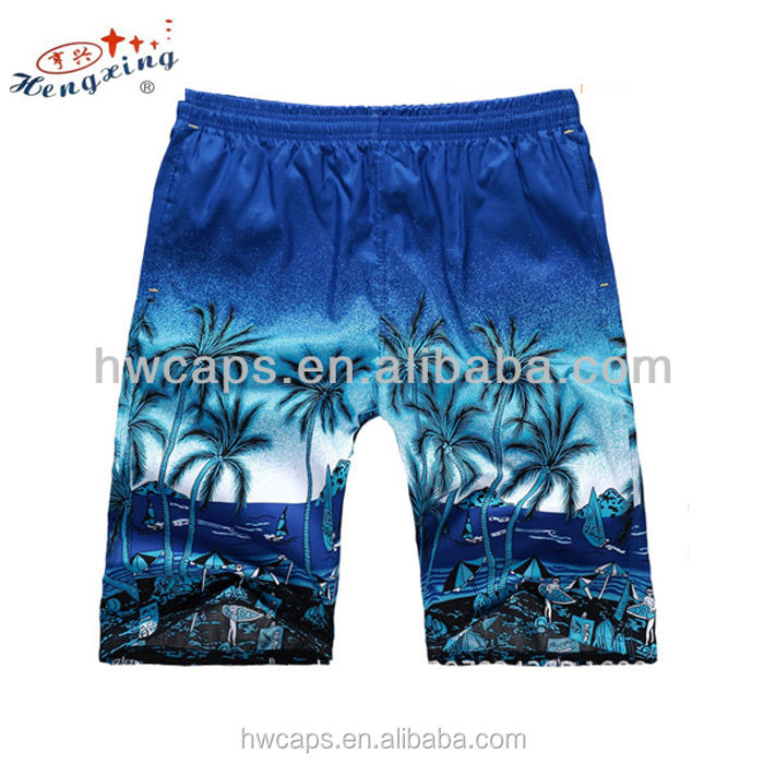Custom produce 100% cotton cheap men swimming shorts