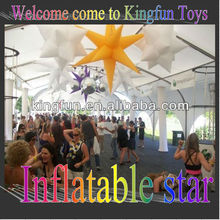 Hanging inflatabel star decoration for event