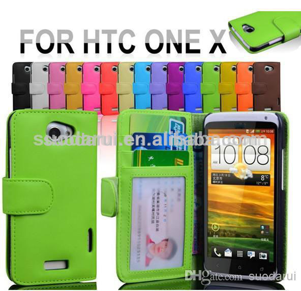 Wallet Leather Case for HTC ONE X, Credit ID Card Cash Slots Wallet Case-suodarui