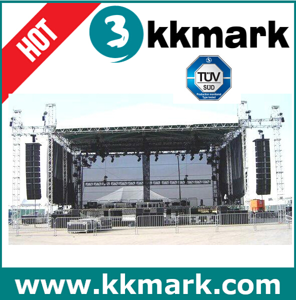 Aluminum Stage lighting trussing displays with ground support system