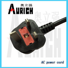 European type power cable ,BS certification power cord 250v 10a