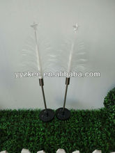 Solar outdoor garden lights / led fiber optic grass plug light