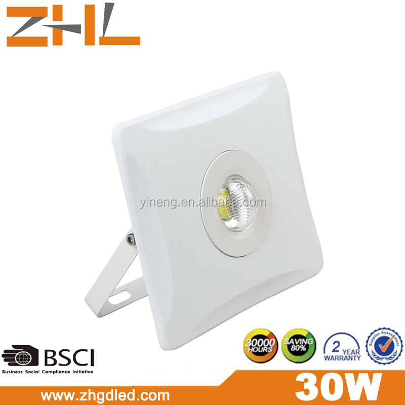 Pearl series 30W COB LED Flood light 200-265VAC IP65 wateproof outdoor lighting t.<strong>u</strong>.e