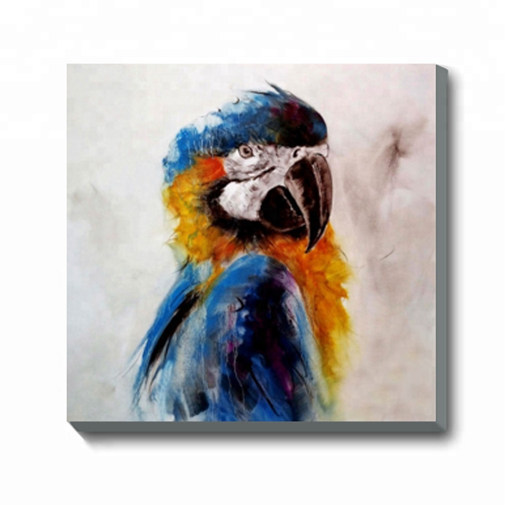 Home Decorations Modern Parrots Giclee Print Canvas Wall <strong>Art</strong>
