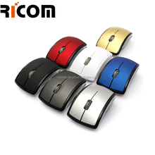 Foldable custom logo wireless mouse, wireless usb foldable mouse,new types mouse used for laptop