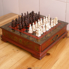 28*28*6cm wooden Archaize international chess