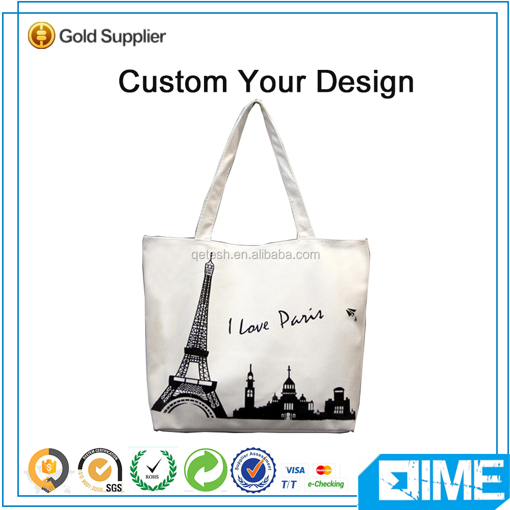 Tower Blank Tote Sublimated Tote Bag Canvas
